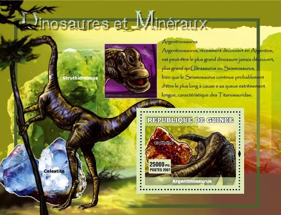 Argentinosaurus - Issue of Guinée postage stamps