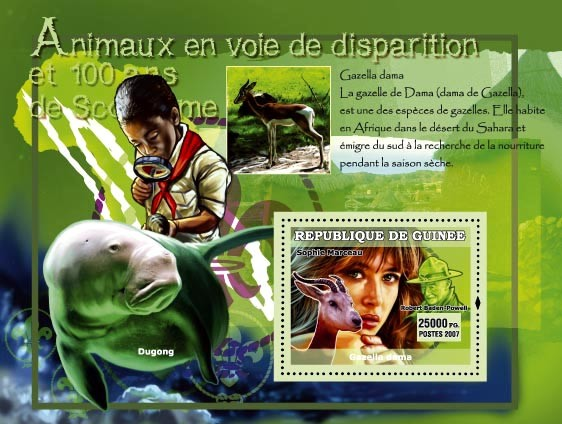 Dugong / Sophie Marceau (idem) - Issue of Guinée postage stamps