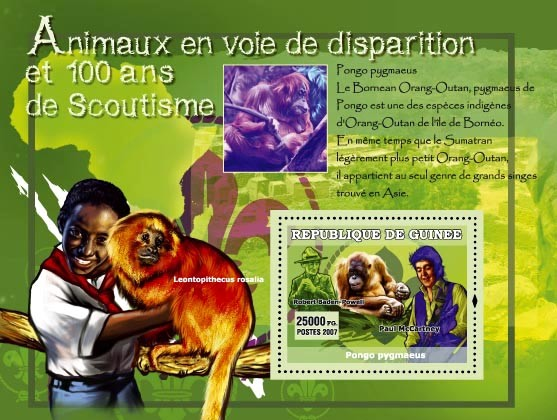 Monkeys / Paul McCartney (idem) - Issue of Guinée postage stamps