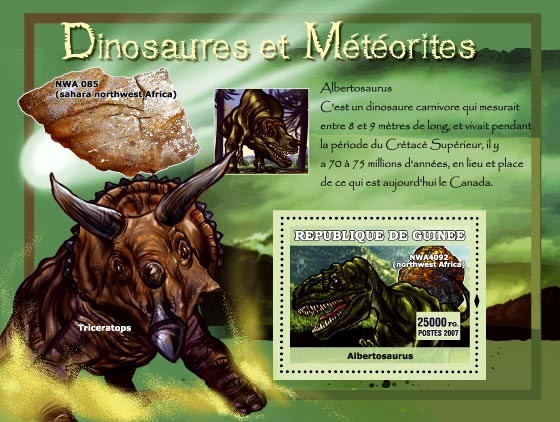 Albertosaurus / NWA 085 - Issue of Guinée postage stamps