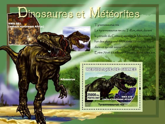 Tyrannosaurus rex / NWA 081 - Issue of Guinée postage stamps