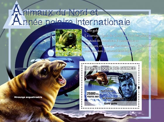 Gulo gulo / Sir Edmund Hillary - Issue of Guinée postage stamps