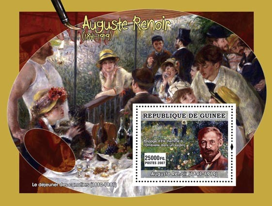 Renoir s/s - Issue of Guinée postage stamps