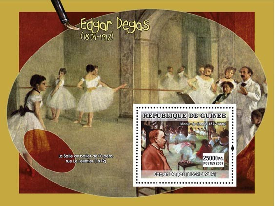 Degas s/s - Issue of Guinée postage stamps