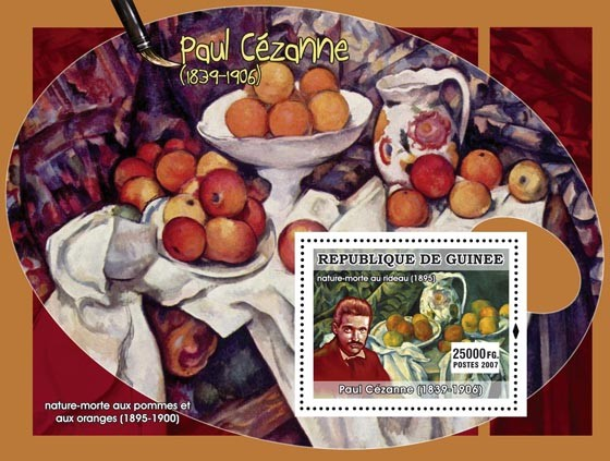 Cezanne s/s - Issue of Guinée postage stamps