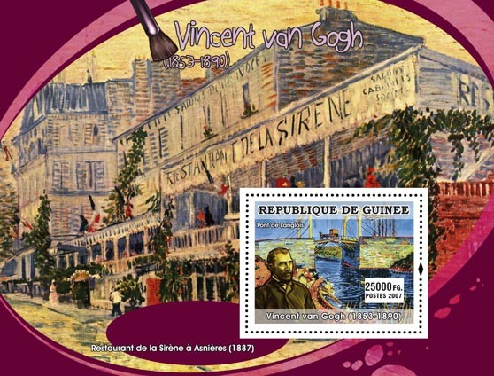 Van Gogh s/s - Issue of Guinée postage stamps