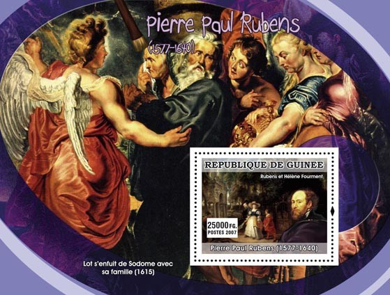 Rubens s/s - Issue of Guinée postage stamps