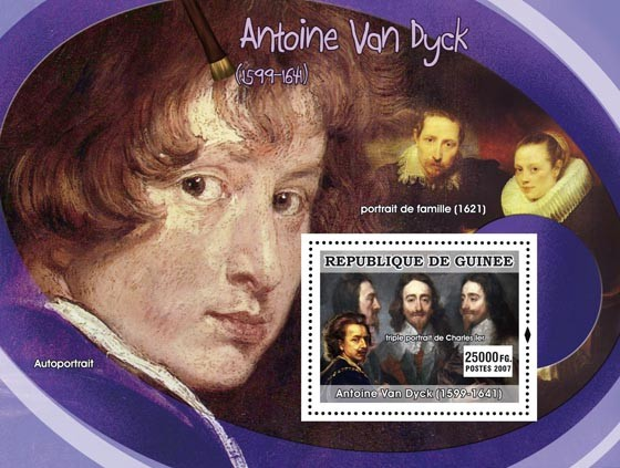 Van Dyck s/s - Issue of Guinée postage stamps