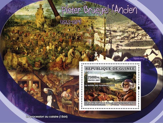 Peter Bruegel the Older s/s - Issue of Guinée postage stamps