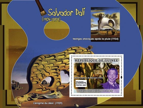 Dali s/s - Issue of Guinée postage stamps