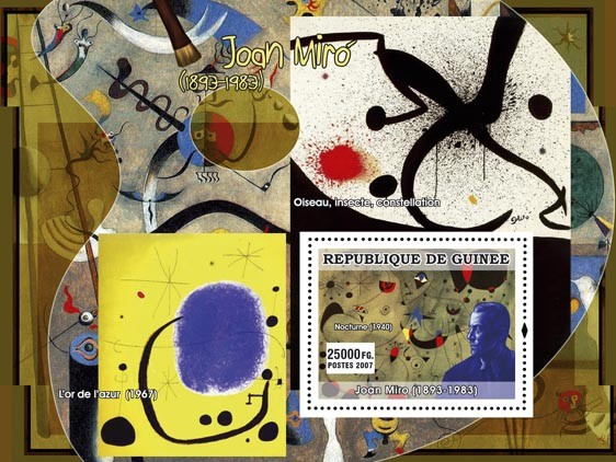 Miro s/s - Issue of Guinée postage stamps
