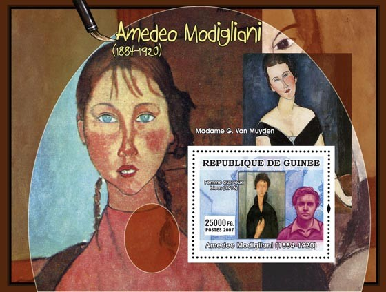 Amadeo Modigliani - Issue of Guinée postage stamps