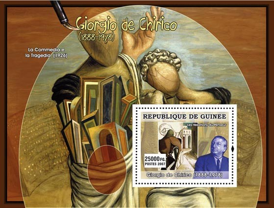 Giorgio De Chirico - Issue of Guinée postage stamps