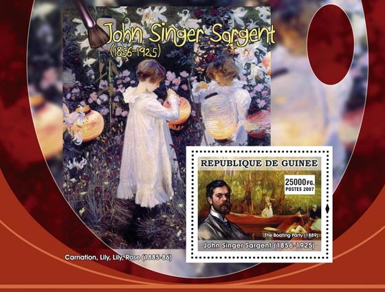 John Singer Sargent - Issue of Guinée postage stamps