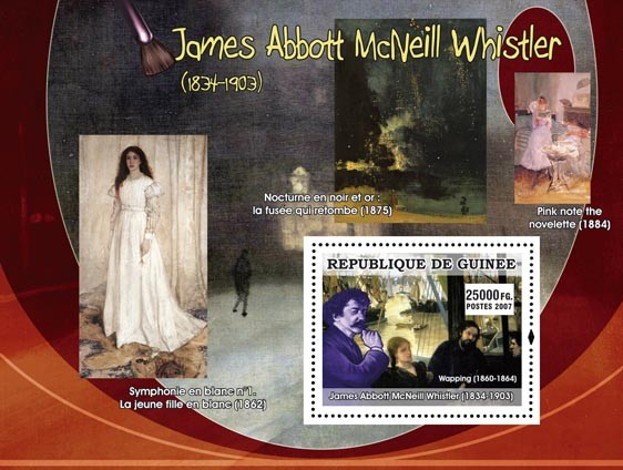 James Abbott McNeill Whistler - Issue of Guinée postage stamps