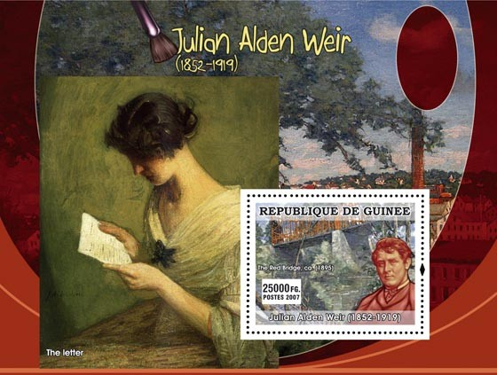 Julian Alden Weir - Issue of Guinée postage stamps