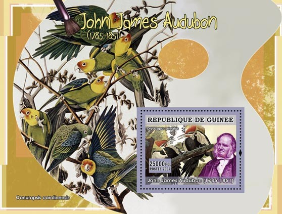 John James Audubon - Issue of Guinée postage stamps
