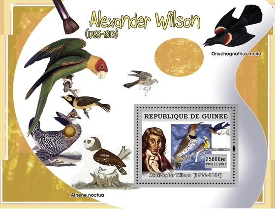 Alexander Wilson - Issue of Guinée postage stamps