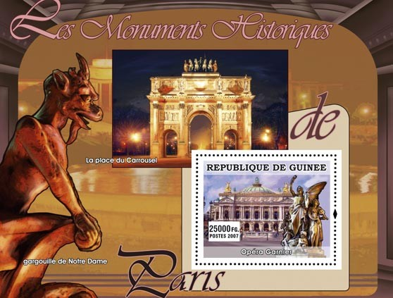 Opera Garnier - Issue of Guinée postage stamps