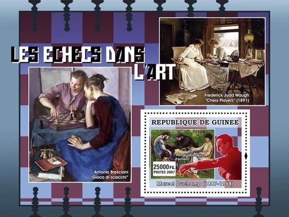 Marcel Duchamp  .... jouers dechecs - Issue of Guinée postage stamps