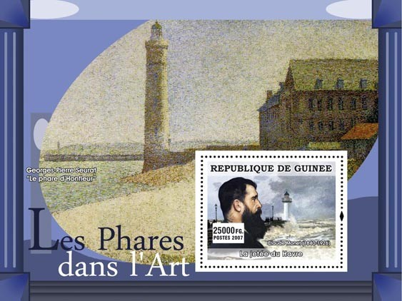 La jetee du Havre - Issue of Guinée postage stamps