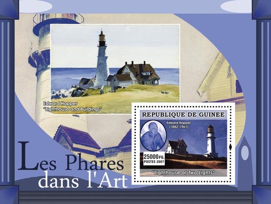 Lighthouse of Two Lights - Issue of Guinée postage stamps