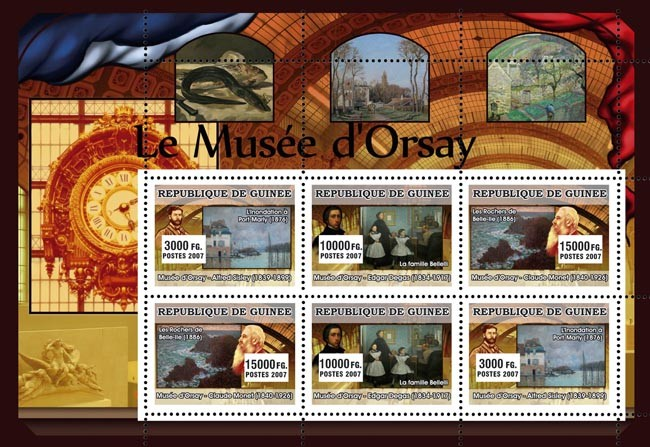 ART - Museum of Orsay - Issue of Guinée postage stamps