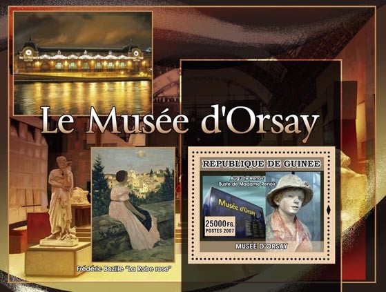 Le Musee dOrsay - La robe rose - Issue of Guinée postage stamps