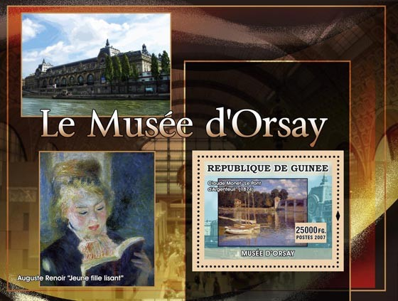 Le Musee dOrsay -  Jeune fille lisant - Issue of Guinée postage stamps