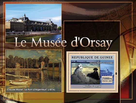Le Musee dOrsay -  Le Pont dArgenteuil - Issue of Guinée postage stamps