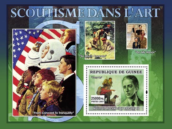 From Concord to Tranquility - Issue of Guinée postage stamps