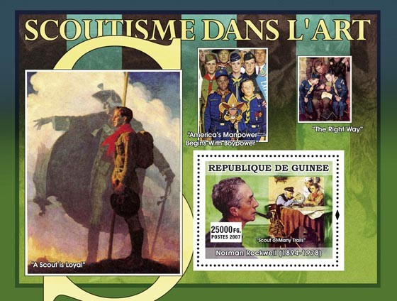 A Scout is Loyal - Issue of Guinée postage stamps