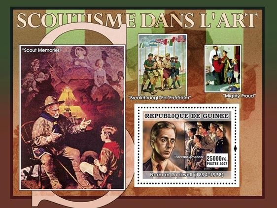 Scouts Memories - Issue of Guinée postage stamps