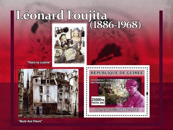 Leonard Fujita - Issue of Guinée postage stamps