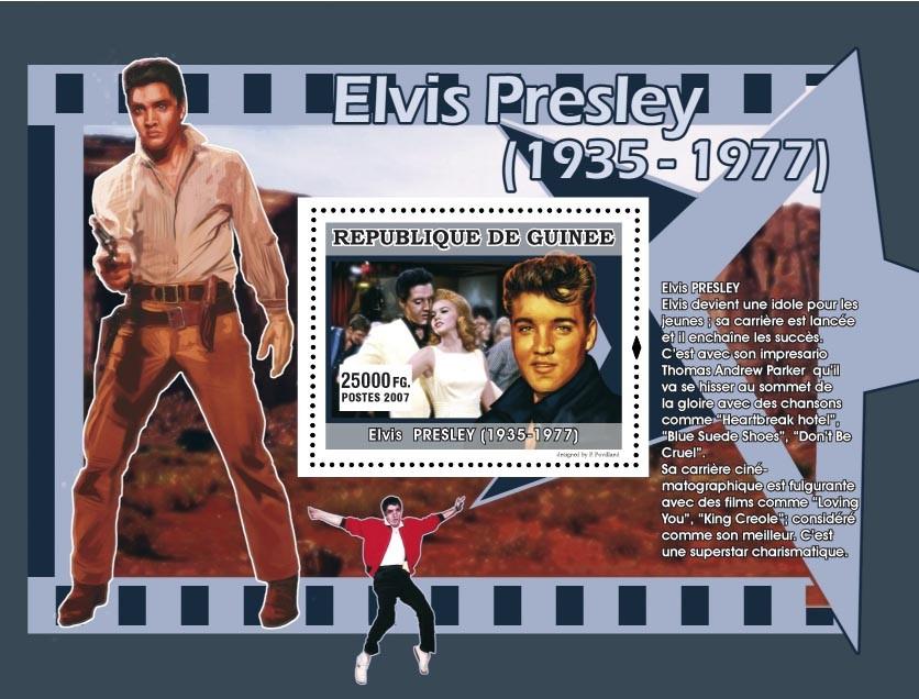 Elvis devient une idole pour les jeunes... - Issue of Guinée postage stamps