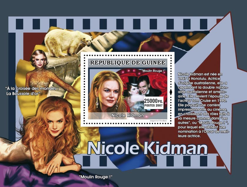 Nicole Kidman - Issue of Guinée postage stamps