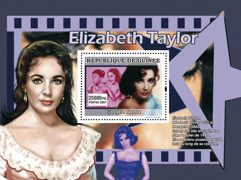 Elisabeth Taylor - Issue of Guinée postage stamps