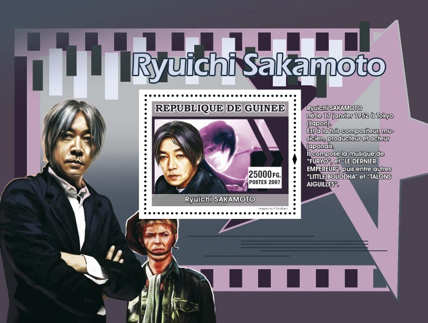 Ryuichi Sakamoto - Issue of Guinée postage stamps