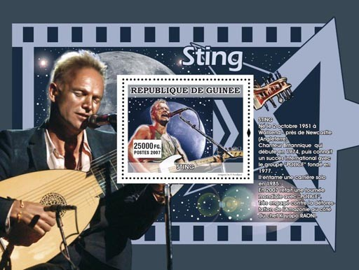 Sting - Issue of Guinée postage stamps