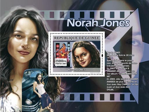 Norah Jones - Issue of Guinée postage stamps