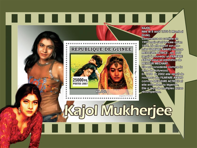 KAJOL - Issue of Guinée postage stamps