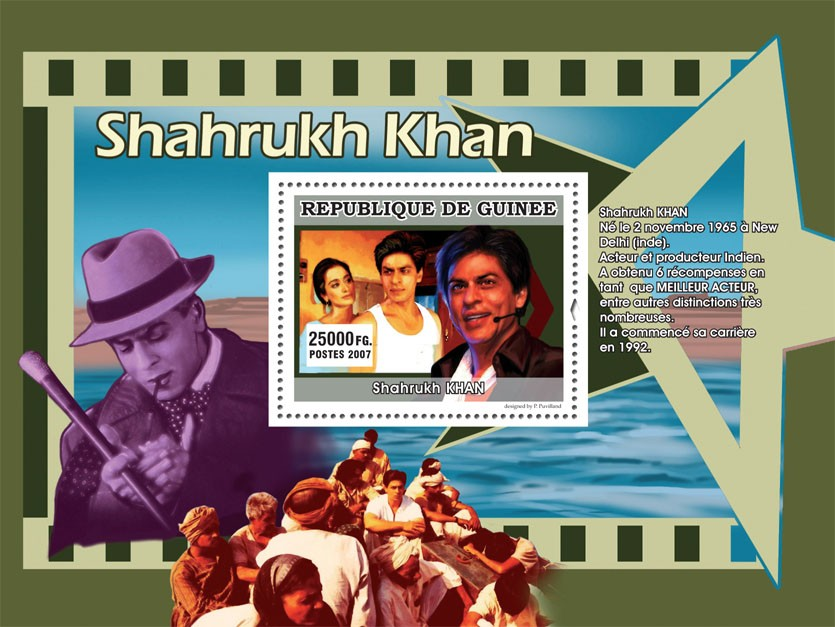 Shahrukh KHAN - Issue of Guinée postage stamps