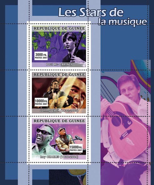 MUSIC: Stars Males - Issue of Guinée postage stamps