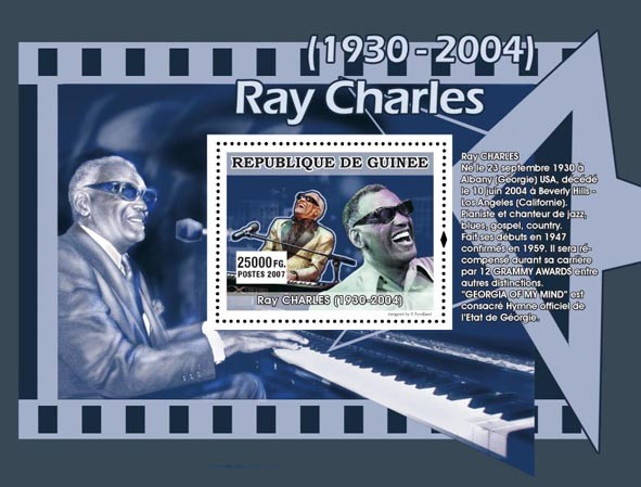 Roy Charles - Issue of Guinée postage stamps