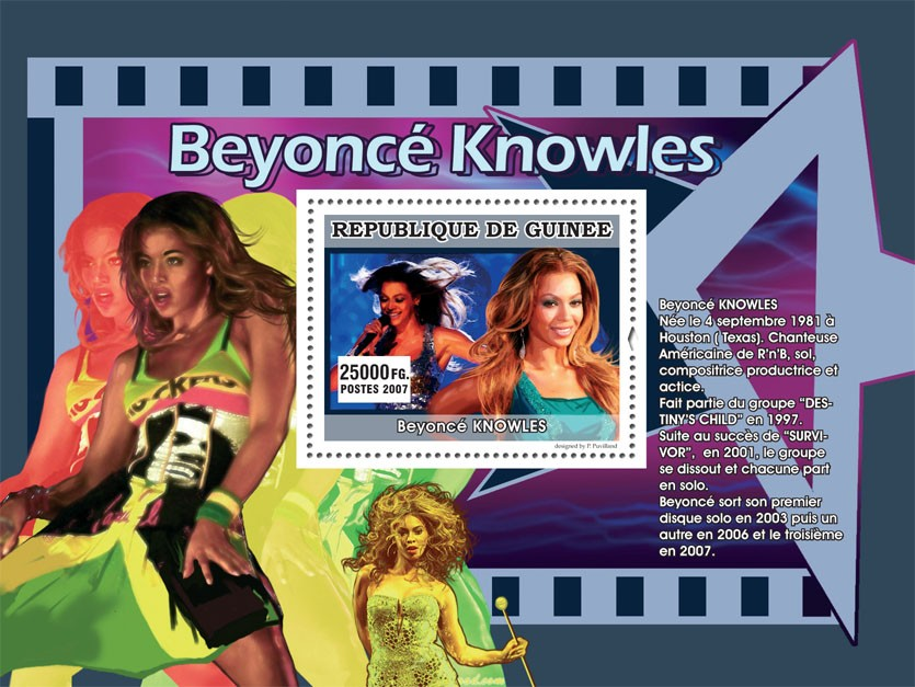 Beyonce Knowles - Issue of Guinée postage stamps