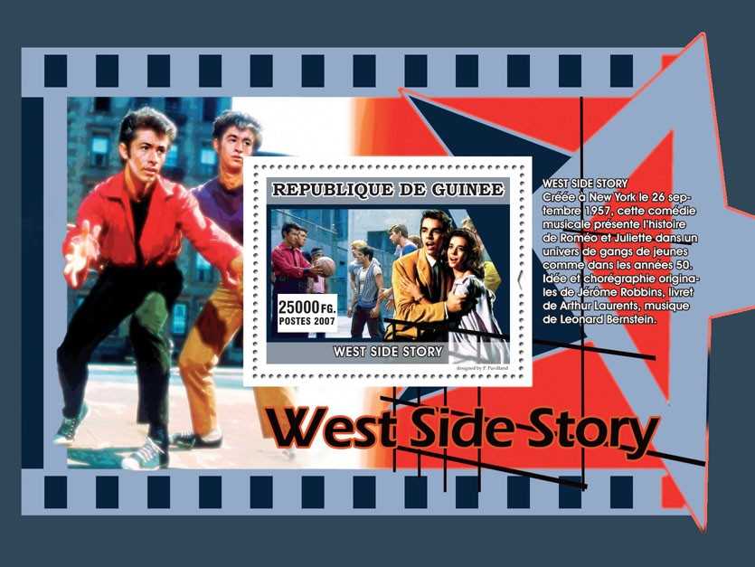 West Side Story - Issue of Guinée postage stamps