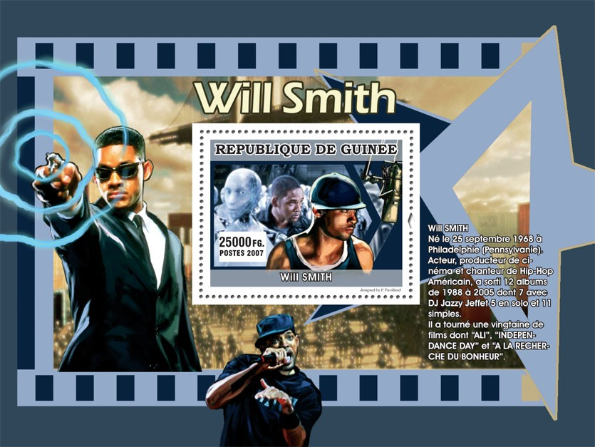 Will Smith - Issue of Guinée postage stamps