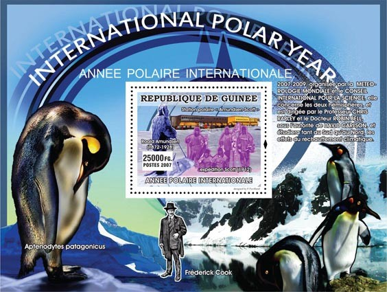 Ronald Amundsen - Issue of Guinée postage stamps