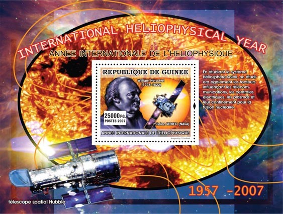 William Herschel ( 1738-1822 ) - Issue of Guinée postage stamps