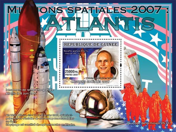 Astronaute Clayton Anderson - Issue of Guinée postage stamps
